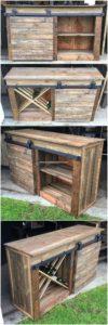 Pallet Cabinet with Sliding Door