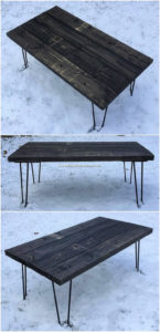 Pallet Table with Hairpin Legs