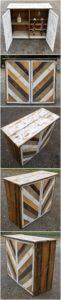 Wood Pallet Wine Cabinet