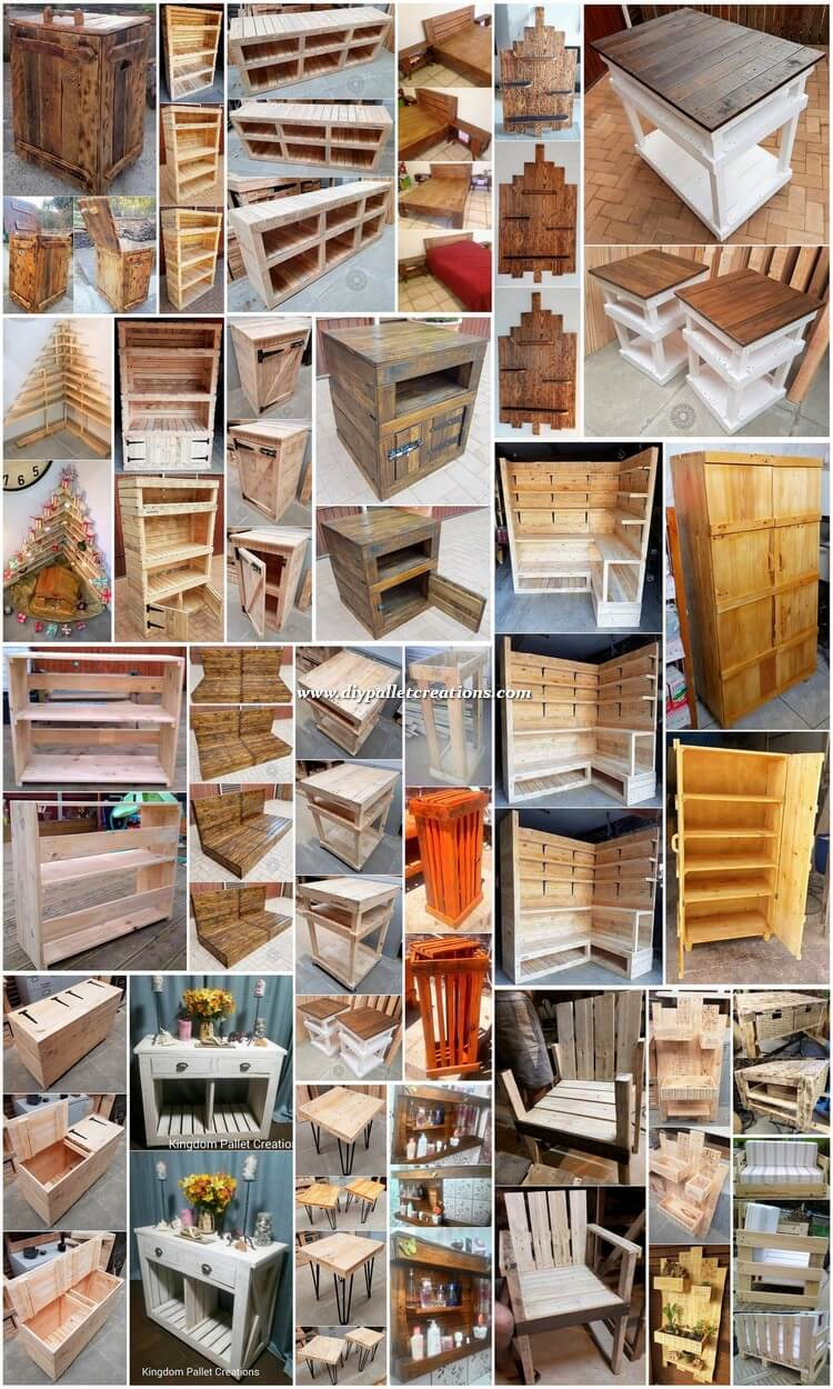 Creative Furniture Ideas with Old Wood Pallets