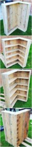 DIY Pallet Shelving Unit