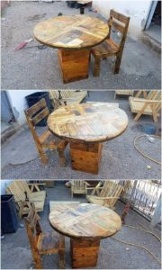 Pallet-Chair-and-Round-Top-Table
