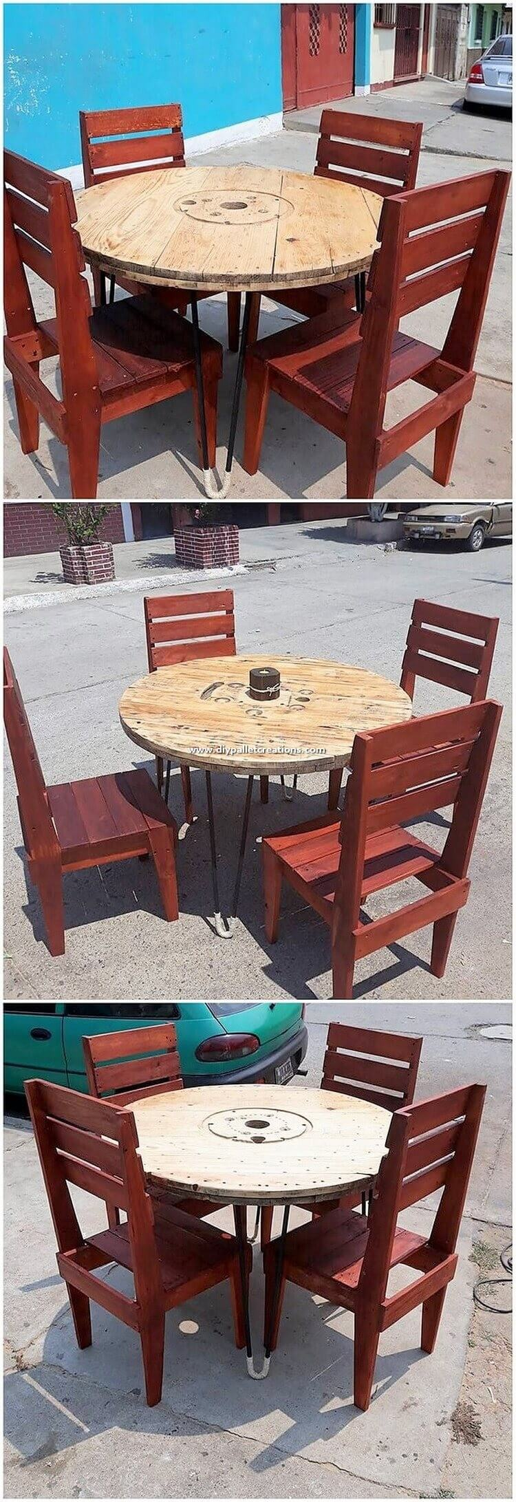 Pallet-Chairs-and-Round-Top-Table