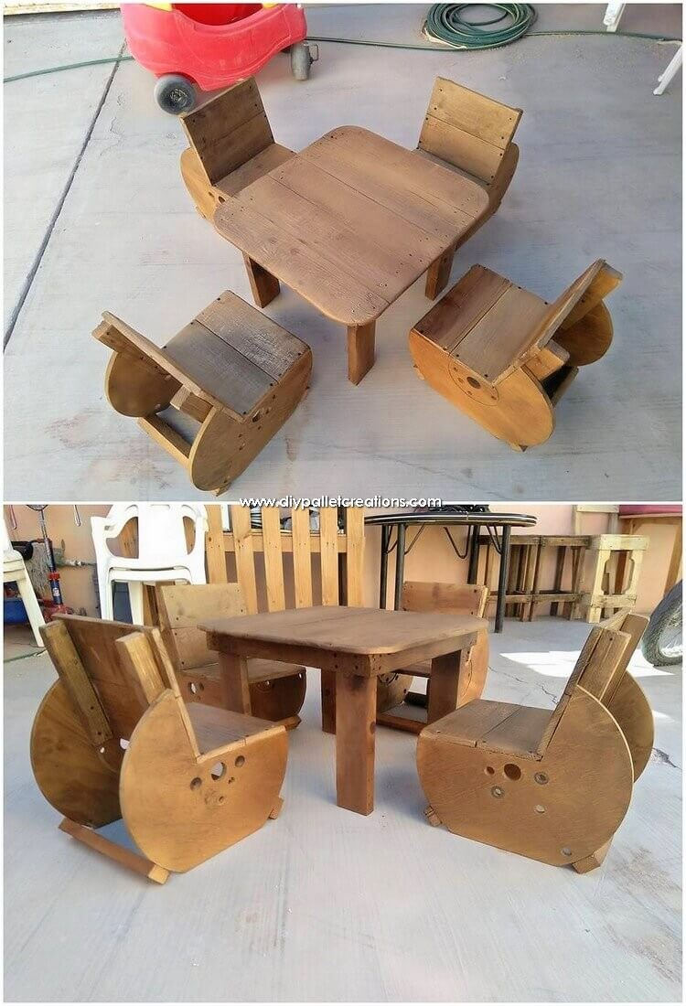 Pallet-Chairs-and-Table