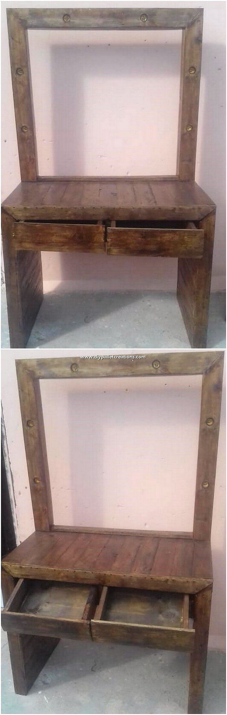 Pallet Dressing Table with Drawers