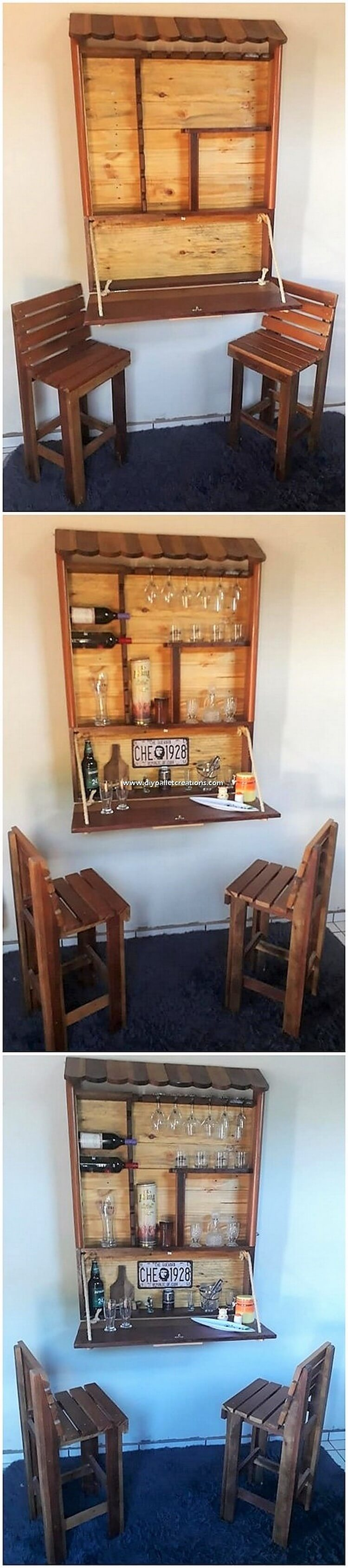 Pallet Folding Bar and Chairs