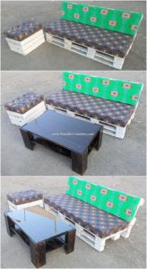Pallet Outdoor Couch and Table