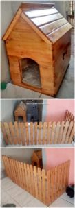 Pallet Pet House with Fence