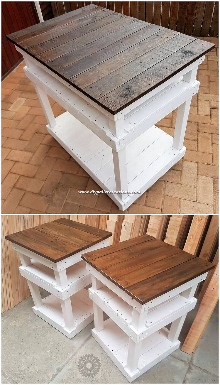 Pallet Shelving Tables