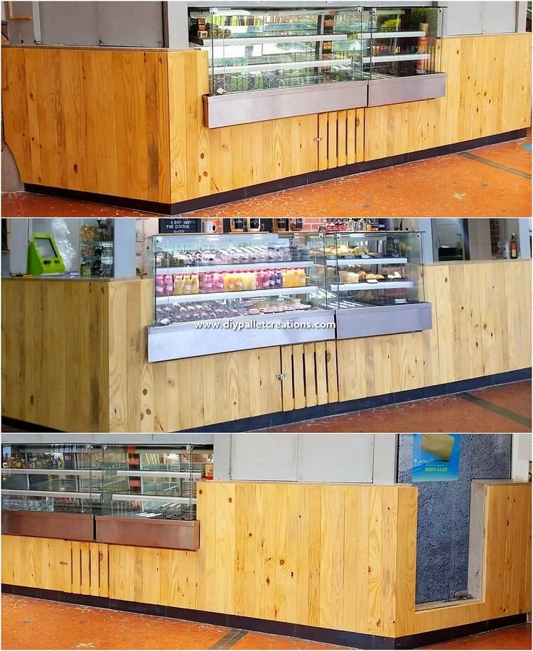 Pallet Shop Counter Table