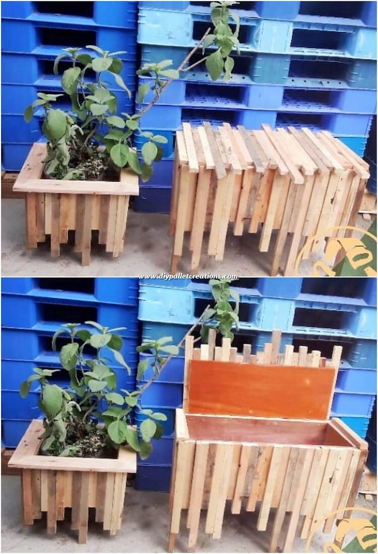 Pallet Storage Box and Planter