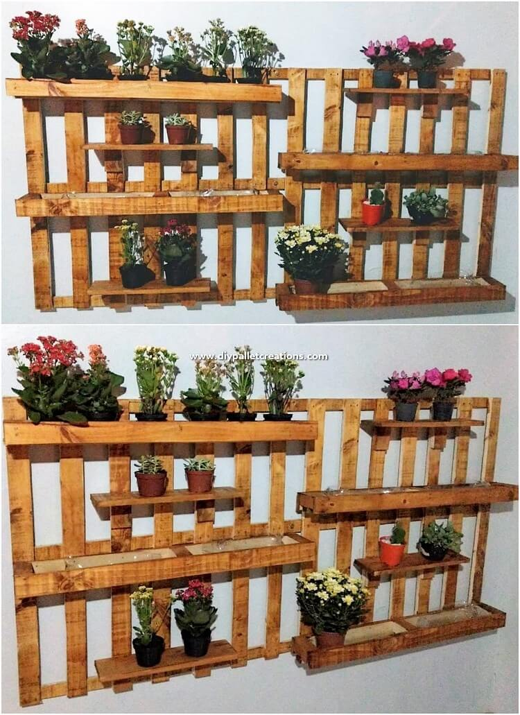 Pallet Wall Decor Planters
