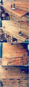 Pallet Wall Paneling with Table