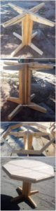 Round Top Wooden Pallet Table