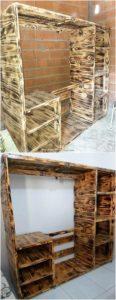Wood Pallet Closet