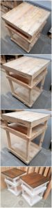 Wood Pallet Shelving Tables