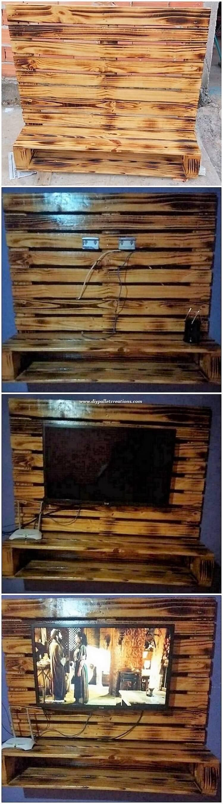 Wood Pallet Wall LED Holder