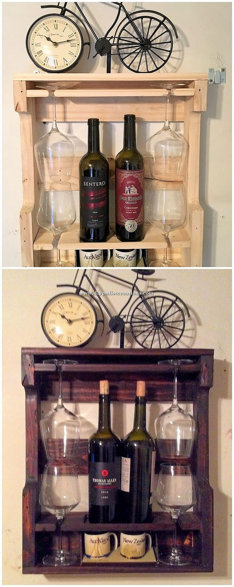 Wood Pallet Wine Rack