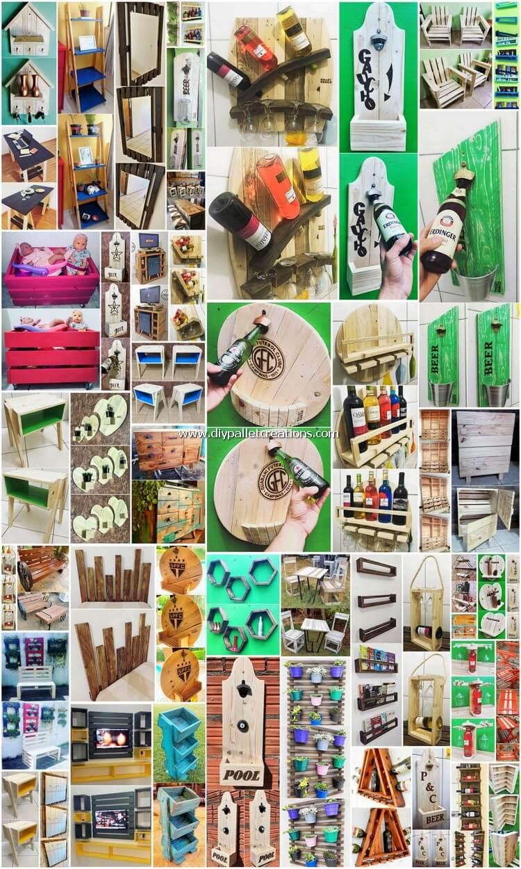 50 Fresh DIY Ideas for Wood Pallet Reusing