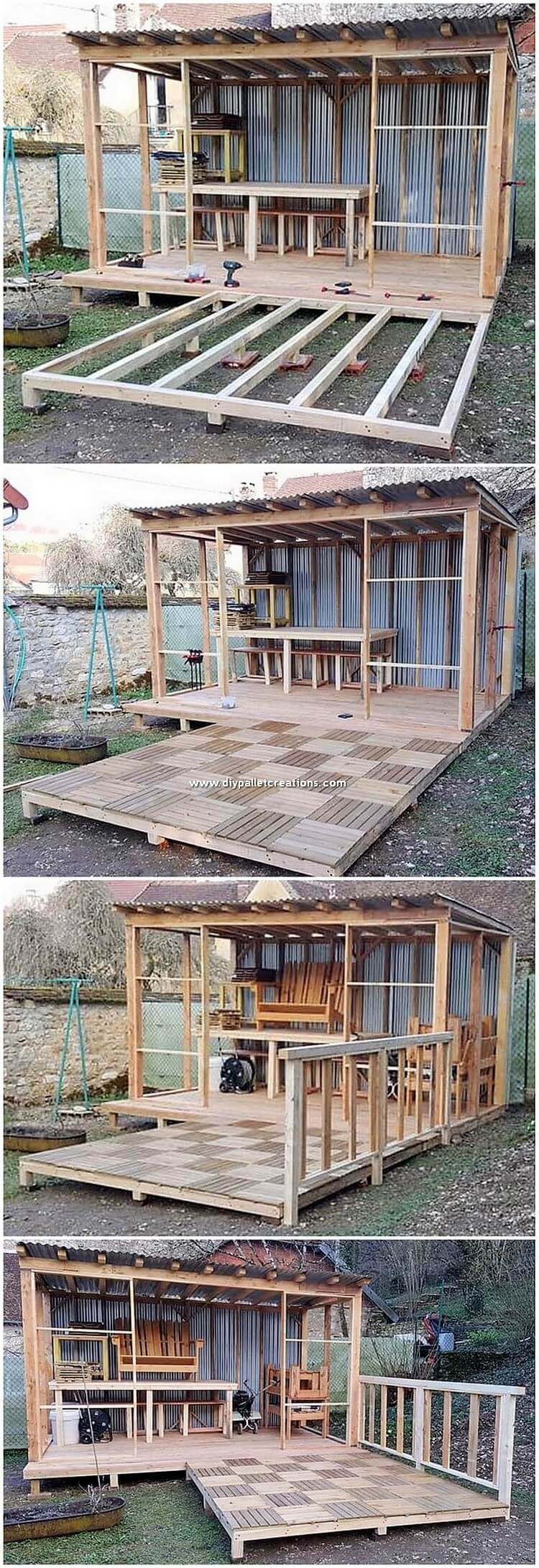 DIY Pallet House with Terrace