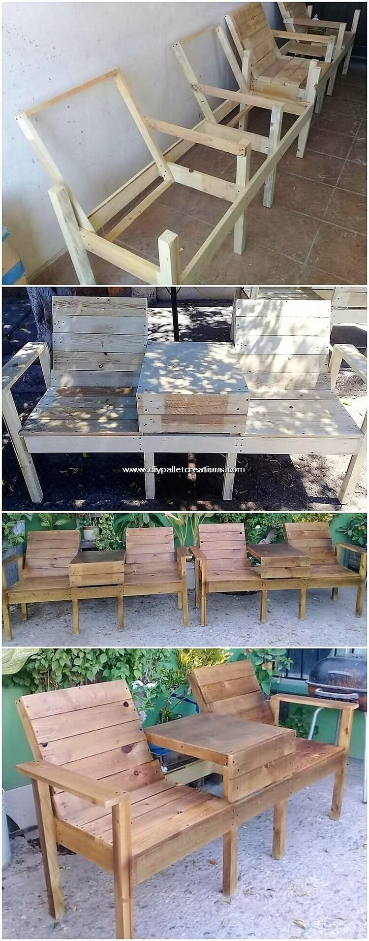 DIY Pallet Outdoor Chairs