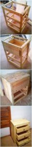 DIY Pallet Side Table with Drawers