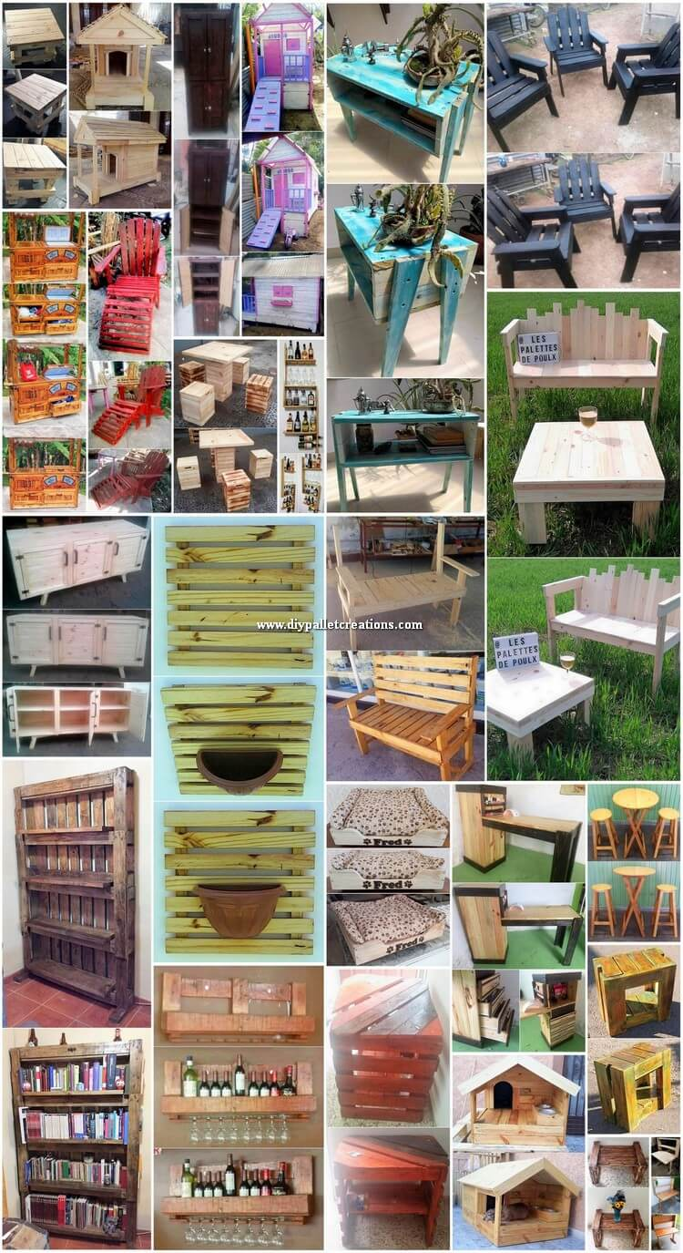 Easy DIY Ideas for Old Wood Pallet Recycling