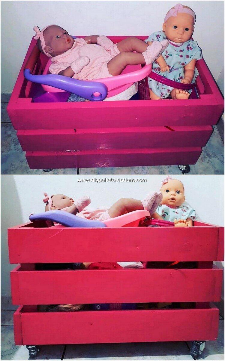 Pallet Toy Storage Box