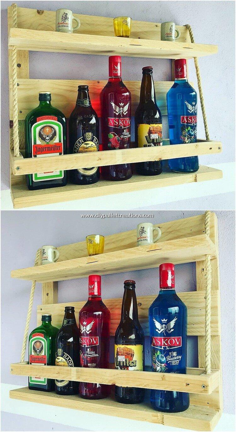 Pallet Wine Rack Shelf