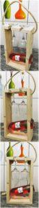 Pallet Wood Wine Rack Idea