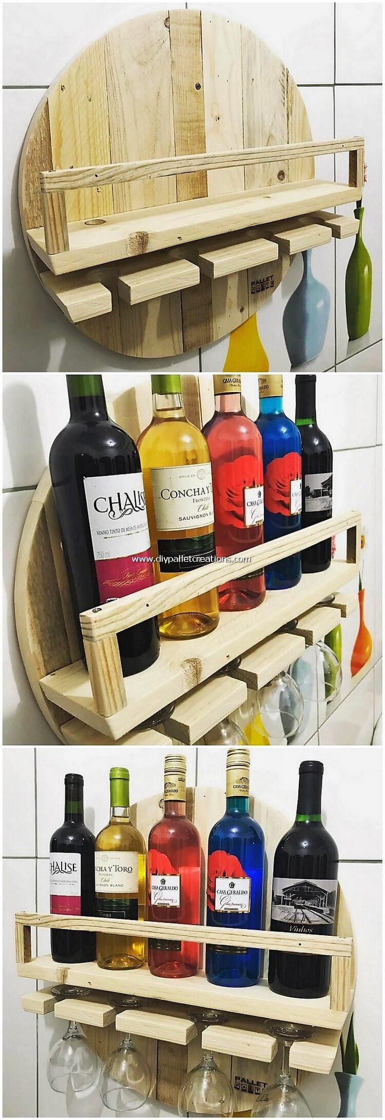 Pallet Wood Wine Rack