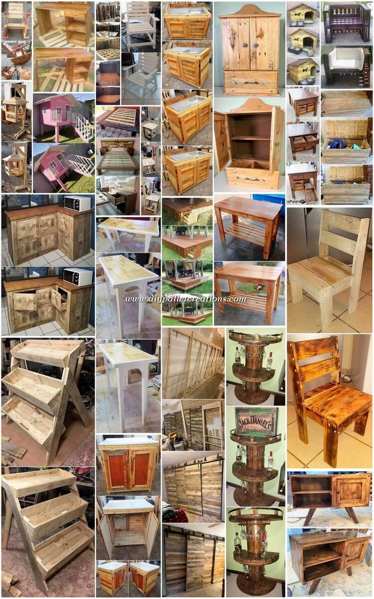Useful DIY Ideas Made from Old Wood Pallets