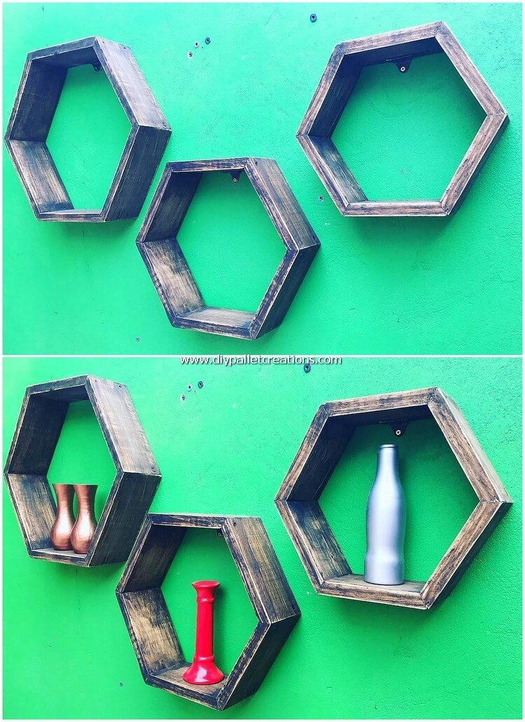 Wood Pallet Wall Shelves
