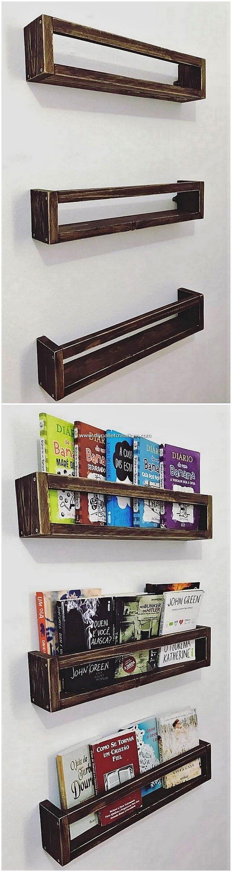 Wooden Pallet Wall Shelves