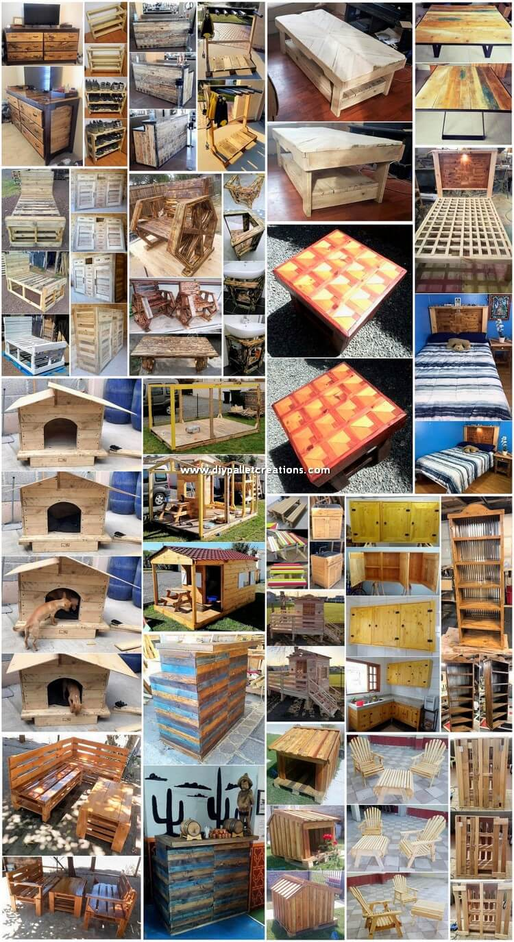 Artistic and Smart Creations with Recycled Pallets
