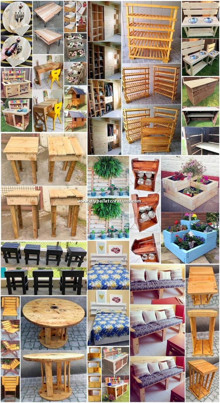 Genius Crafting Ideas with Recycled Wood Pallets