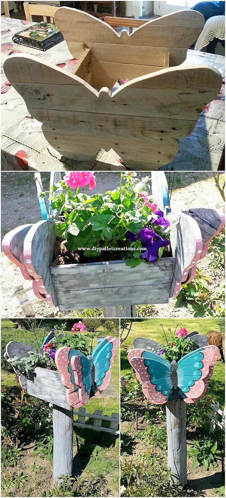 Pallet Butterfly Planter