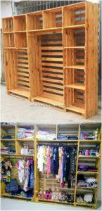Pallet Closet Project