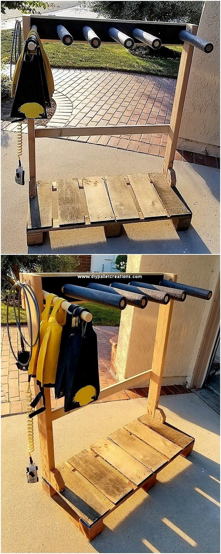 Pallet Coat Rack Stand