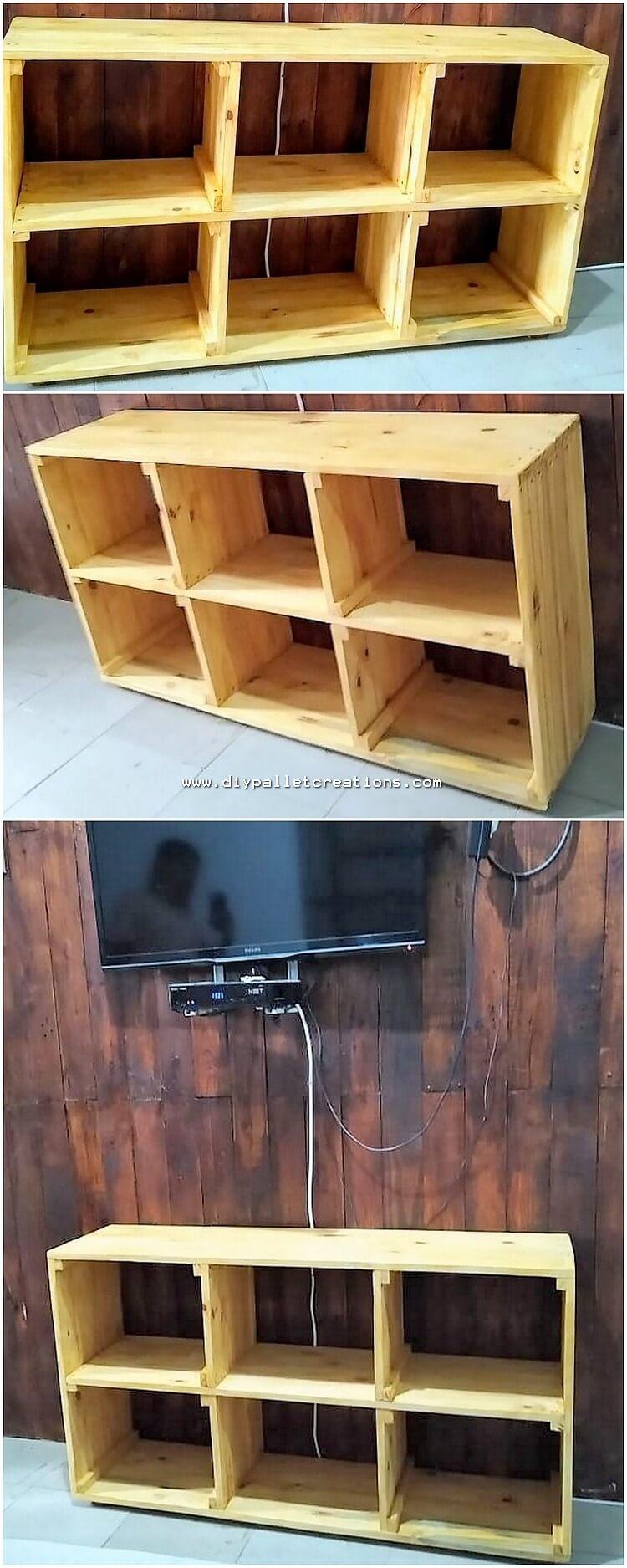 Pallet Media Shelving Cabinet