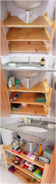 Pallet Sink with Storage