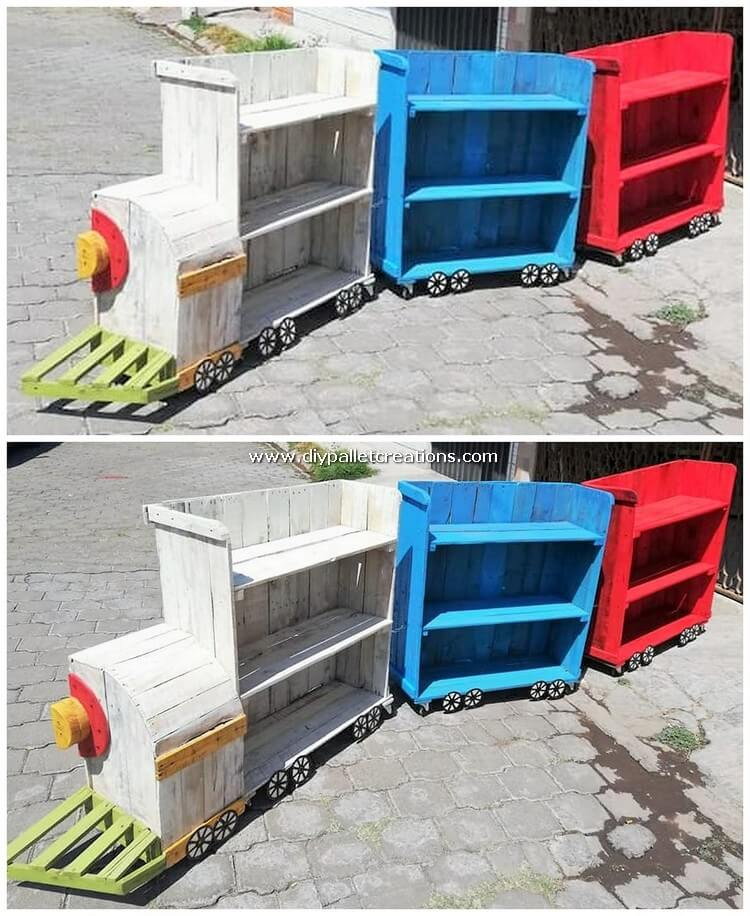 Pallet Train Shelving Cabinets