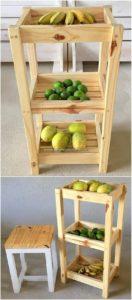 Pallet Vegetables and Fruits Rack
