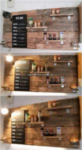 Pallet Wall Shelf with Lights