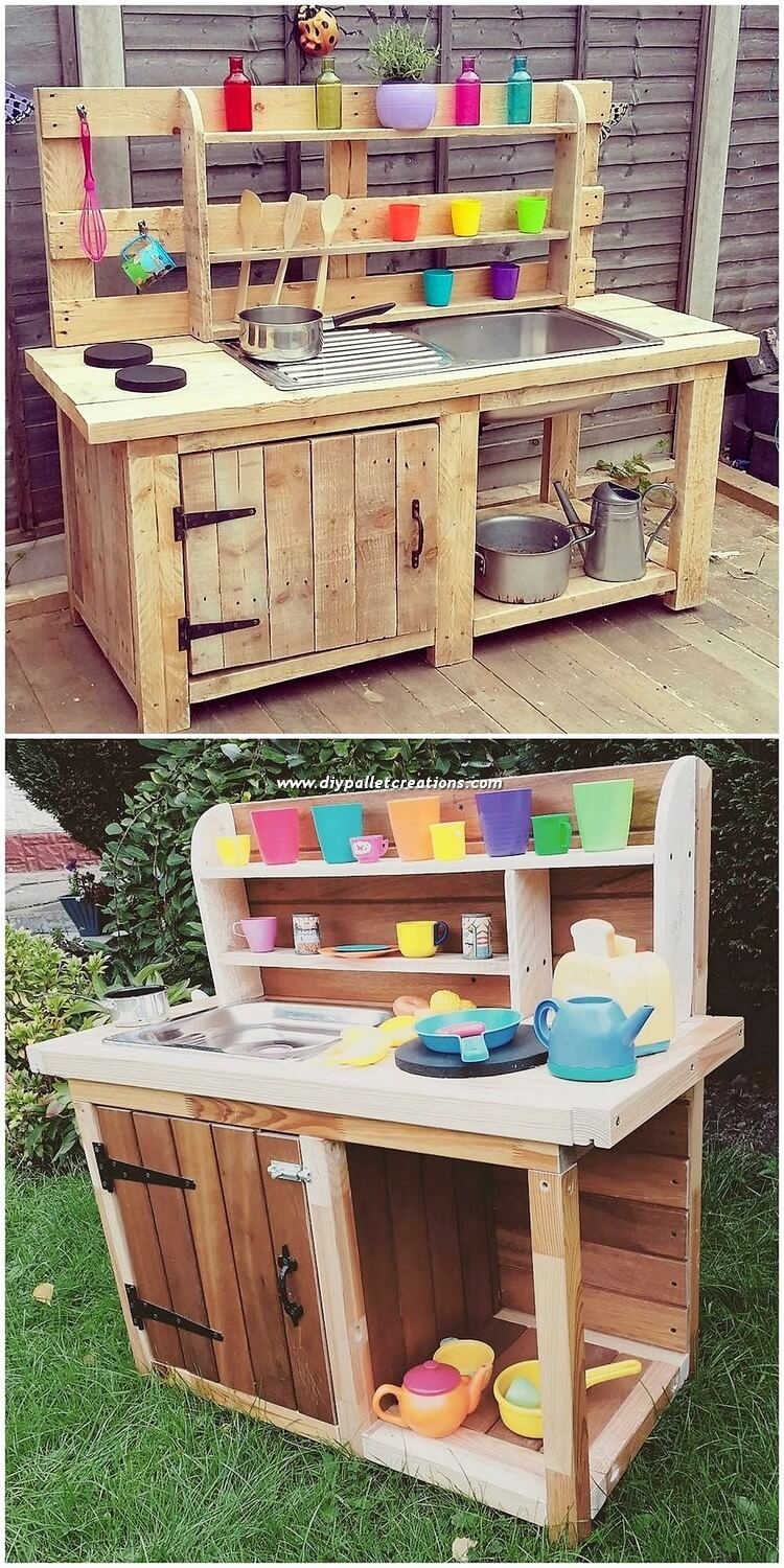 Wood Pallet Potting Cabinet
