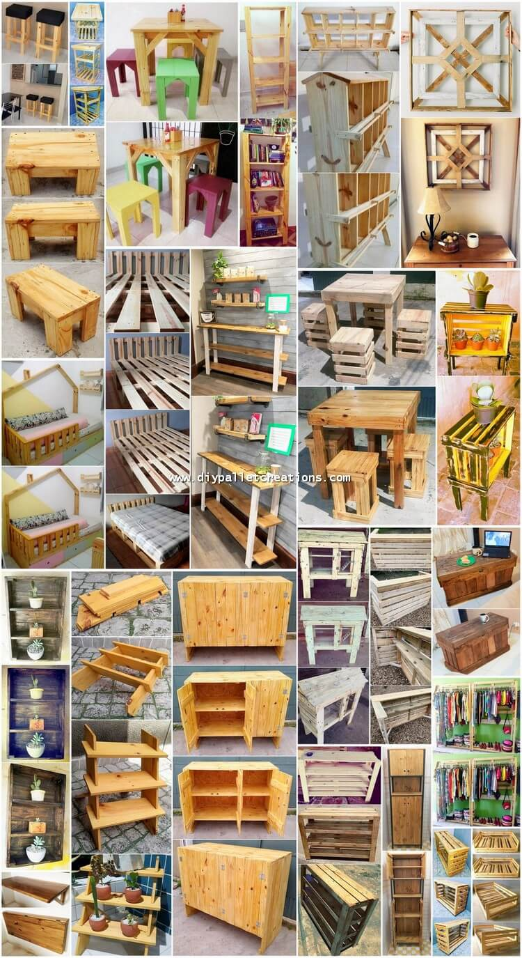 Attractive DIY Ideas with Wood Pallets