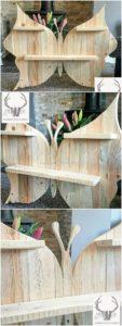 Pallet Butterfly Wall Shelf