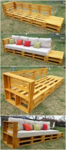Pallet Couch and Side Table
