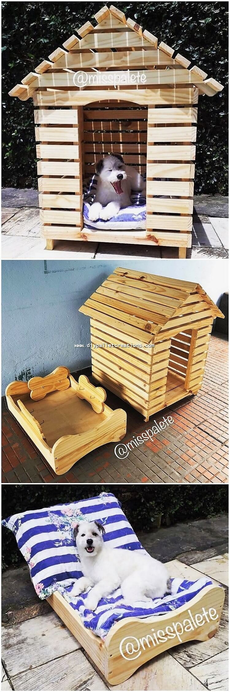 Pallet Dog House and Bed