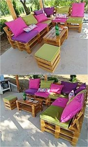 Pallet Garden Couch and Table Set